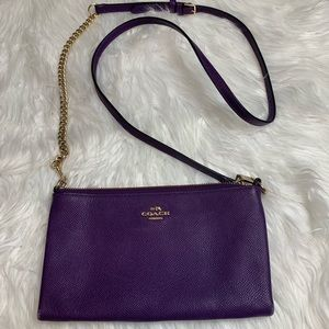 Coach Purple Leather Mini Crossbody Bag